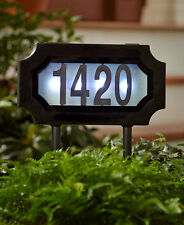 Solar Address Stake Lighted LED Yard Outdoor Home Decor