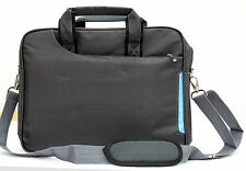 "Grey Laptop notebook slim shoulder bag messenger carry case 13""  travel school"