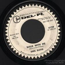 Hear 1959 Earl Davis Early Soul DJ 45 Walk With Me / In the Middle of the Night