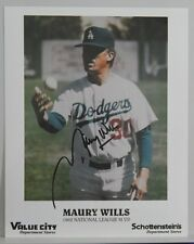 AUTOGRAPHED COLOR PHOTO MLB BASEBALL MAURY WILLS LOS ANGELES DODGERS