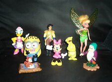 Lot of 8 Smaller PVC Disney Figurines inc. Minion for Cake Toppers or Play Sets