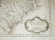 VIAGGI_AMERICA_RARA ANTICA CARTOGRAFIA_CAROLINA_GEORGIA_APALACHI_PORT ROYAL_'700