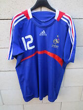 VINTAGE Maillot EQUIPE de FRANCE HENRY n°12 Euro 2008 ADIDAS shirt L ancien