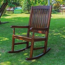 International Caravan Traditional Porch Rocking Chair Seat Out Door Lawn Garden