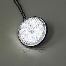 Round Clear Lens Clear LED Reflectors Brake Light for Universal Motorcycle ATV