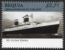 SS UNITED STATES Luxury Ocean Liner / Passenger Cruise Ship Stamp (Bequia)