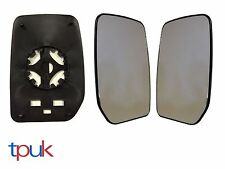 Pair Left & Right Mirror Glass Manual for Ford Transit Panel Van 00-2010 Mk6 Mk7