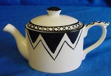 EMMA BAILEY BLACK BUNTING MINI TEAPOT - ENGLISH MADE STAFFORDSHIRE BONE CHINA