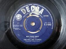 "The Rolling Stones Not Fade Away ♫LISTEN♫ UK 7"" Decca F.11845 1964 VG"