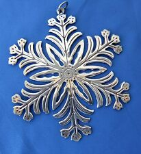 MMA 1973 Sterling Silver Snowflake Christmas Ornament