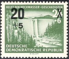 Germany (DDR) 1955 Flood Relief Fund/Dam/Forest/Trees/Park/Nature 1v o/p n28086a