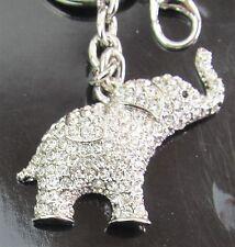 Elephant Key Ring - Silver, Diamanti's over body - Cello Wrapped