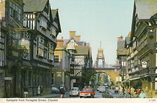 ANGLETERRE ENGLAND CHESTER eastgate from foregate street cars stamped 1974