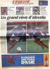 Cahier Spécial Coupe du Monde de L'équipe n°17515 du 31 mai 2002 - Football