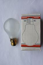 Lot de 10 OSRAM Rough Service 40w Bc B22 baïonnette cap Opal ampoules lampes faites au royaume-uni