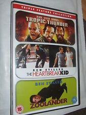 Tropic Thunder/Zoolander/The Heartbreak Kid ----- Ben Stiller  DVD