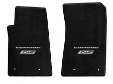 NEW! BLACK FLOOR MATS 2010-2015 Camaro Embroidered RS & Script Double Logo Pair