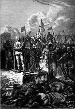 Richard il Lionheart CROCIATE decapitazione Saracens CROCIATI 7x5 pollici stampa