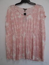 NEW  NWT Daisy Fuentes Woman Pink Lemonade Rayon Top Size 2X