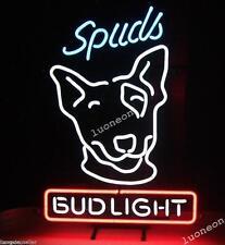 Spuds Mackenzie Bud Light Handcraft Real Glass Neon Light Sign FREE SHIP Gift
