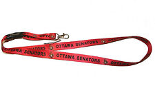 OTTAWA SENATORS RED NHL HOCKEY LOGO LANYARD KEYCHAIN PASSHOLDER .. NEW