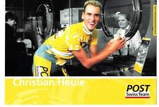 CYCLISME carte  cycliste CHRISTIAN HEULE équipe POST SWISS TEAM