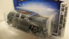 Hot Wheels 2003 First Editions #40 CADILLAC ESCALADE (tooned) dark silver