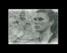 Mia Hamm soccer freehand drawing from artist art image picture