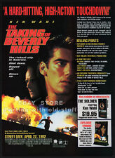 THE TAKING OF BEVERLY HILLS__Original 1992 Trade Print AD_movie promo__KEN WAHL
