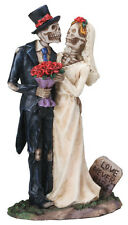 6.5 tall SKELETON LOVE NEVER DIES HALLOWEEN WEDDING CAKE TOPPER FIGURE FIGURINE