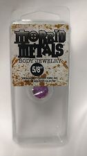 "Morbid Metals Body Jewelry 5/8"" in Gauge Plug Tunnel Clear Pink Glitter Sparkle"