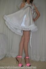 VTG Lingerie Silky Satin Slip FULL Sweep Negligee Babydoll LONG Nightgown L- 2X