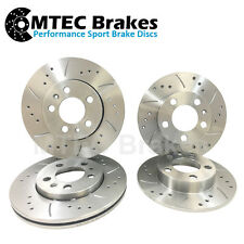 Clio dci dti 1.2 Drilled Grooved Brake Discs Front Rear
