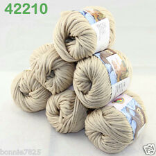 Sale New 6ballsx50g Soft Worsted Cotton Chunky Bulky Hand Knitting Quick Yarn 10