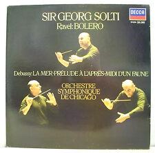 "33T SIR GEORG SOLTI Disque LP 12"" RAVEL BOLERO -DEBUSSY LA MER... DECCA 591096 M"