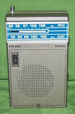 Vintage General Electric GE FM-AM Headset Radio Portable Receiver model 7-1150A