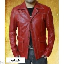 Custom Tailor Made All Sizes Genuine Leather Jacket Fight Club Tyler Durden Brad