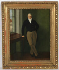 """Portrait of Joseph Mumb"", Austrian (Czech) Biedermeier, oil on canvas"