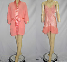 NWT NEW Vintage 80's Victoria Secret Gold Label Nightgown Robe Peignoir Set - M