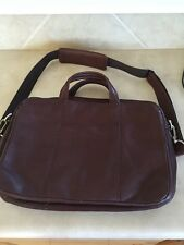 WILSONS LEATHER MEN'S BROWN MESSENGER SHOULDER BAG LAPTOP Briefcase