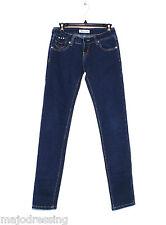 Jeans slim Miss RJ femme brut stretch taille 34 36 XS S W26 bijoux Neuf