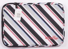 "Oakley SILVIA Unisex 13"" Laptop/Macbook Sleeve Cover Black Grey White Stripe NEW"