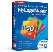Avanquest MyLogoMaker Professional,Design Create Make Logo,1000s shape templates