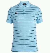 Men's canterbury rugby polo. à rayures bleu. taille: moyenne