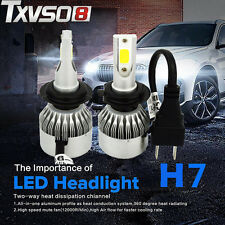 2x 55W 4600LM H7 CREE LED 12V Car Headlight Conversion Kit Lamp Bulb 6000K White