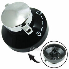 STOVES NEWHOME Oven Hob Black Silver Control Knob Switch 081880326