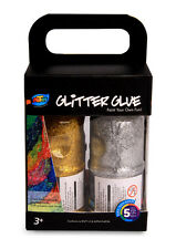4 x 120ml Glitter Glue 4 Bright Colors Great for Kids Art Craft Non-toxic Safe