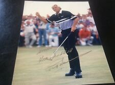 Greg Norman Golf Autograph Photo British Open Champ Aussie
