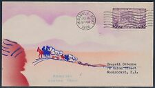 "#783-22 ""PIONEERS OREGON TRAIL"" ON HANDPAINTED CACHET BY RISKO JUL 14,1936 BT908"