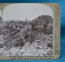 WW1 Stereoview All That Remains Of Monchy Chateau Arras Realistic Travels